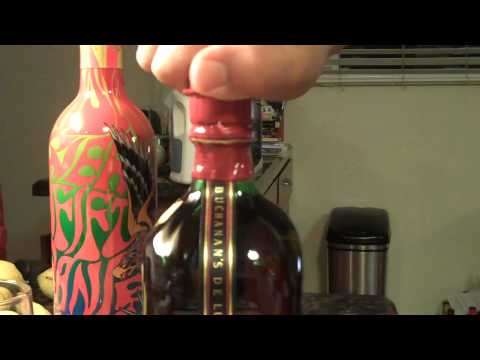 Buchanan's Deluxe 12 year Scotch Whiskey. Problems opening the bottle?