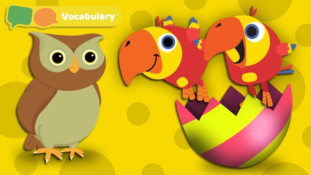 Learning First Words for Babies w Larry The Bird - Animal Sounds | Baby Sensory | First University