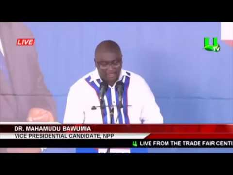 #FullSpeech Dr. Mahamadu Bawumia at 2016 #NPPManifesto Launch