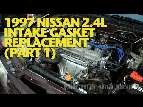 1997 Nissan 24L Intake Gasket Replacement (Part 1) -EricTheCarGuy