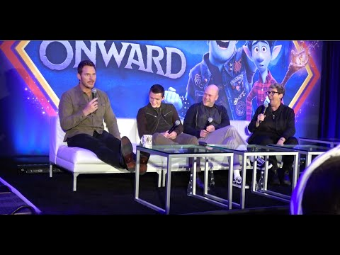 Onward: Tom Holland & Chris Pratt's funniest press conference! Don't miss Chris Patt's sales skills