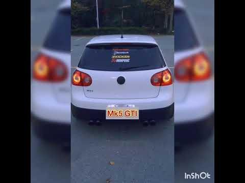Quad exhaust loud VW MK5 GTI