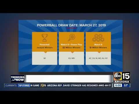 Arizona Winners After Powerball Drawing