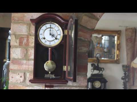 Vintage 'Highlands' 8-Day Mahogany Case Wall Clocks with Chimes