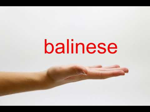 How to Pronounce balinese - American English