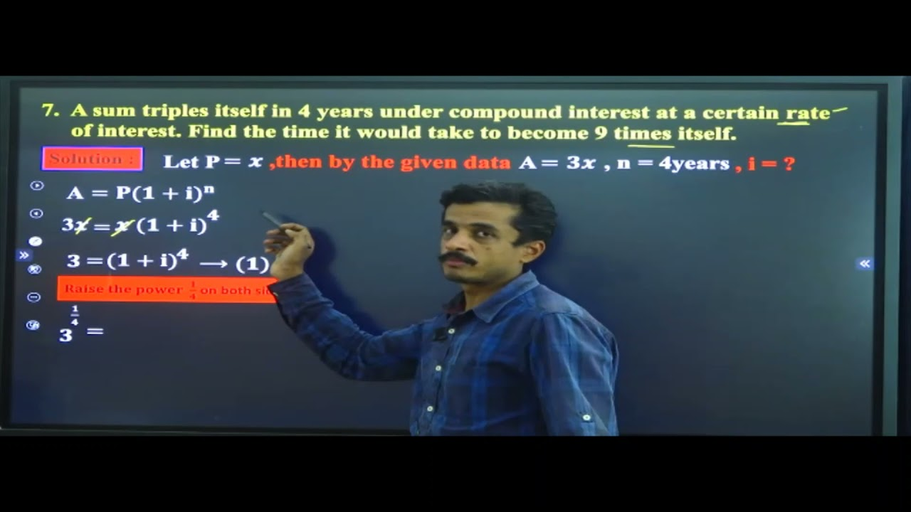 I PUC | BASIC MATHS | SIMPLE INTEREST AND COMPOUND INTEREST - 06