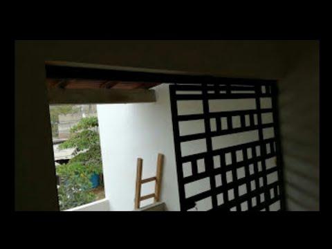 165 como crear una puerta corrediza con tubular 2 x 1 - Como colocar una puerta corrediza ...