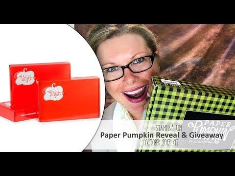 *Spoiler Alert* October 2017 Paper Pumpkin Kit Reveal and Giveaway