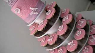 Tiara Cupcake Cake - how to tutorials of the flowers & butterflies on my channel