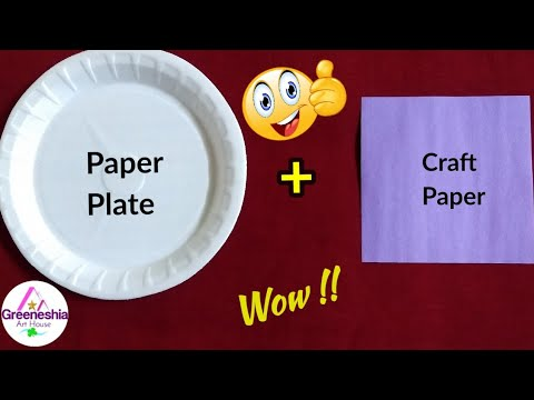 Best out of waste paper plates crafts   Easy paper plate crafts for kids   Crafts for kids