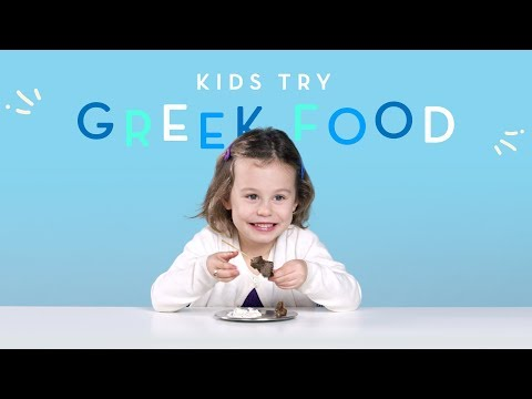 Kids Try Greek Food | Kids Try | HiHo Kids