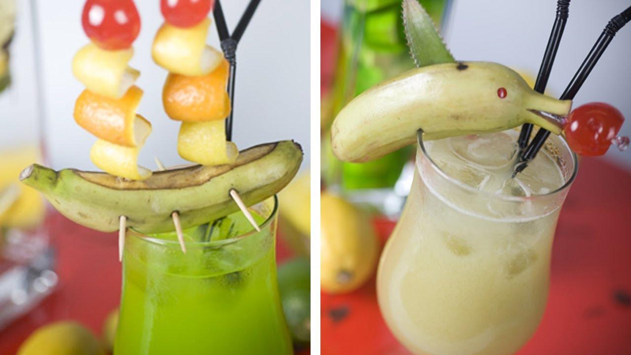 Teide sin alcohol banana stick guinda tipos de for Adornos para cocteles