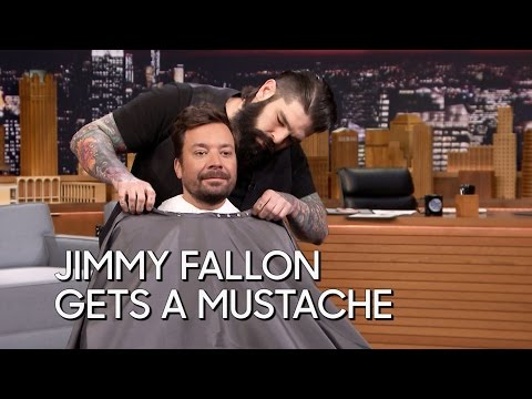 Jimmy Fallon Gets a Mustache