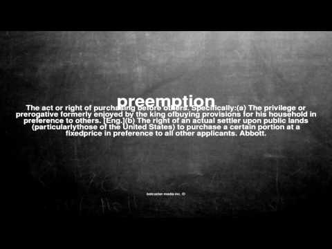 What does preemption mean