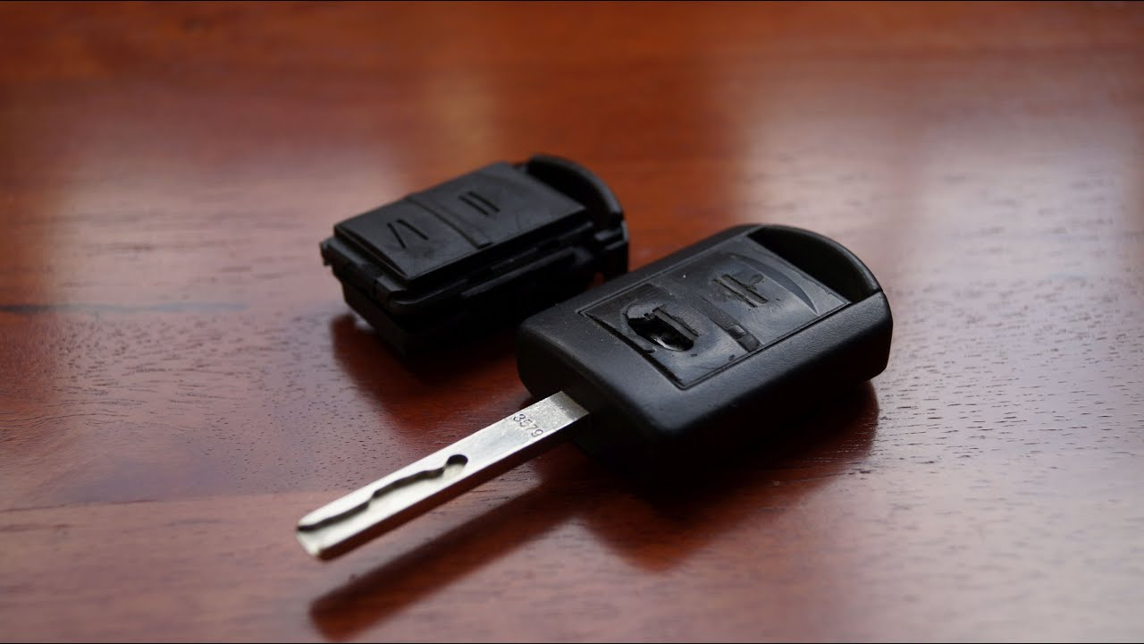 Opel Remote Key - Buttons and Case Replacement - YouTube