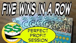 New 3 Million Cash.  5 wins in a row. Lottery scratch tickets