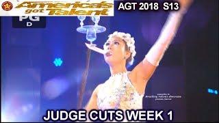 Trinh Tra My Aerialist America's Got Talent 2018 Judge Cuts 1 AGT season 13