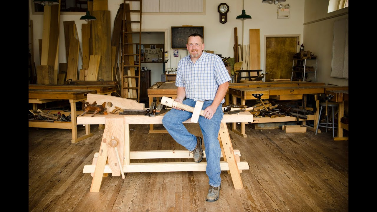 The Portable Moravian Workbench at The Woodwrights School