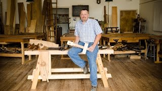 The Portable Moravian Workbench At The Woodwright's School