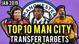 TRANSFER NEWS! TOP 10 Man City TRANSFER TARGETS January 2019 ft Sancho, Ndombele, De Ligt