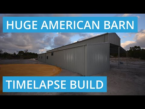American Barn Shed Build Video