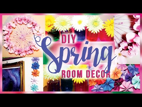 DIY Spring Room Decorations / Decor for Your Room! Teenagers, Apartment, Bedroom IDEAS
