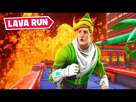 RUN From The Lava In Fortnite! (Volcano Run)
