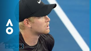Heated discussion between Edmund and umpire   Australian Open 2018