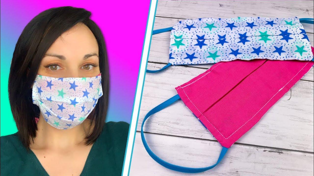 Comment faire un masque à la maison | Faire un masque à partir de tissu | Masque fait main - YouTube