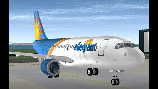 ROBLOX / Allegiant Air (Airbus A320) Flight! / AVL - KPGD / [Part: 2]