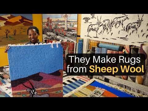 They Make Rugs From Sheep Wool (Swakopmund, Namibia)