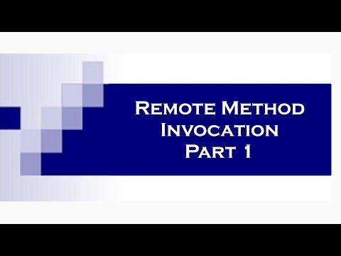 RMI (Remote Method Invocation) in Java Part 1