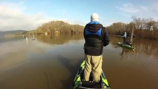 hot winter kayak bass fishing