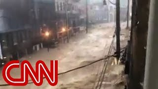 Heavy flooding ravages Baltimore-metro city
