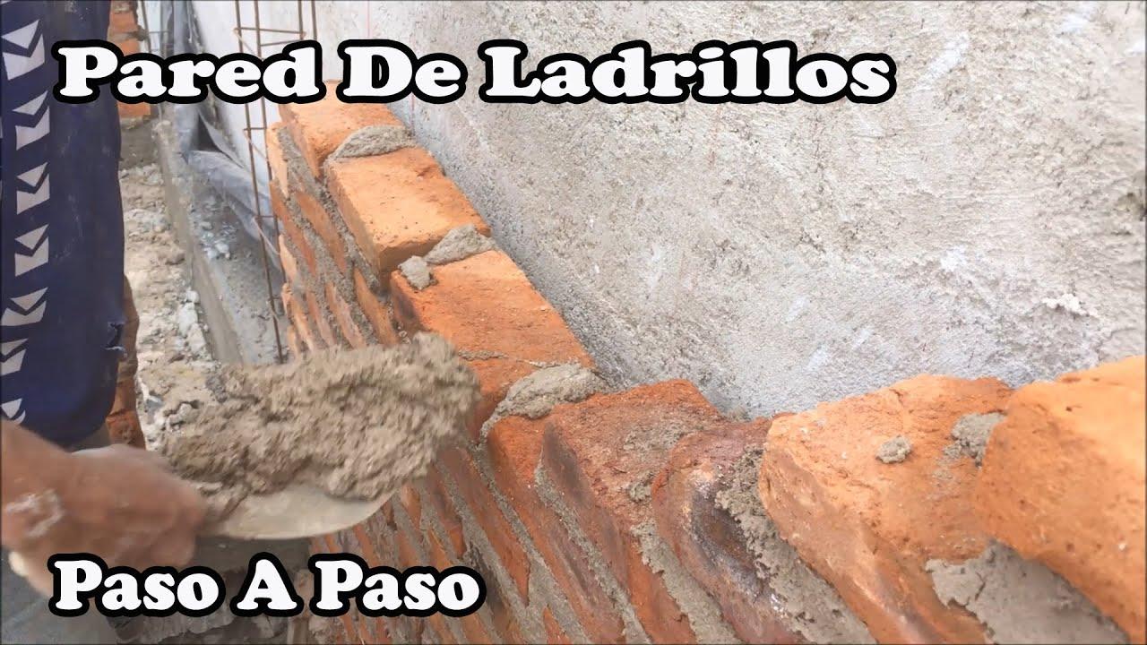Proceso constructivo de un muro en ladrillos youtube Construir una pileta de ladrillos