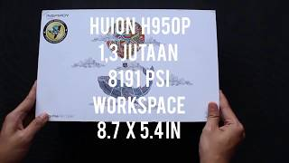Huion H950p review + drawing test!! rival intuos pro yang baru!