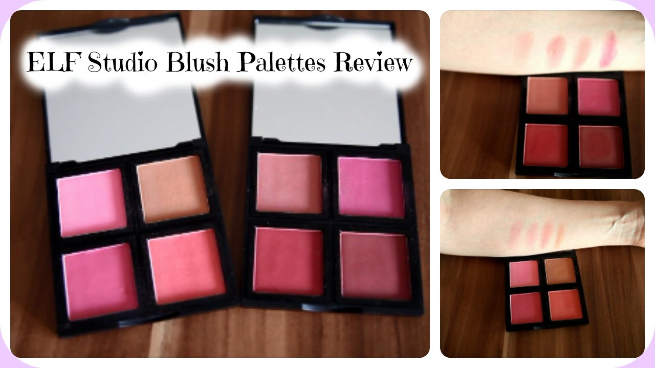 ELF Studio Blush Palettes - Review & Live Swatches - YouTube