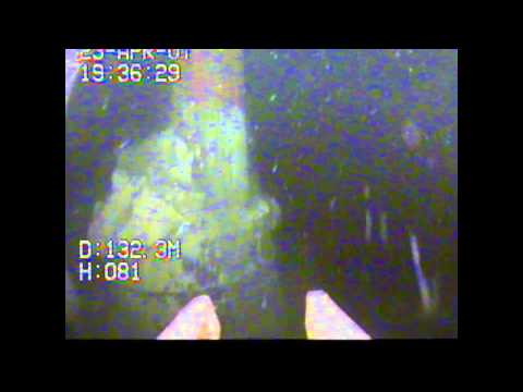 VideoRay ROV Observing an Offshore Natural Gas Drilling Operation