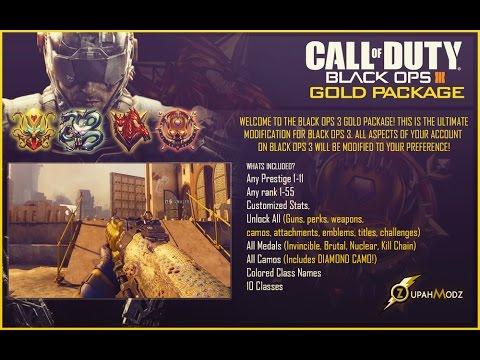 Black Ops 3 Mods - Gold Package & Pre-Modded Accounts (PS3/PS4, XBOX 360/XBOX ONE, PC)