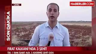 Suriyede Turk Tanki Vuruldu, Malesef 3 Sehidimiz Var