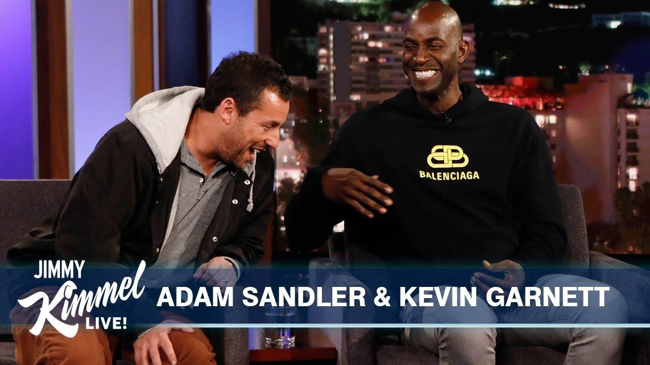 Adam Sandler Kevin Garnett On Uncut Gems Youtube Jimmy kimmel has two other kids from his first marriage to gina maddy. adam sandler kevin garnett on uncut gems