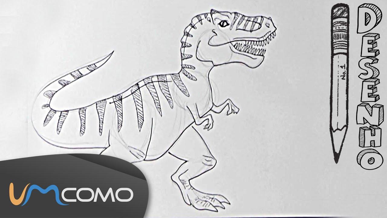 desenhar um tyrannosaurus rex t rex youtube