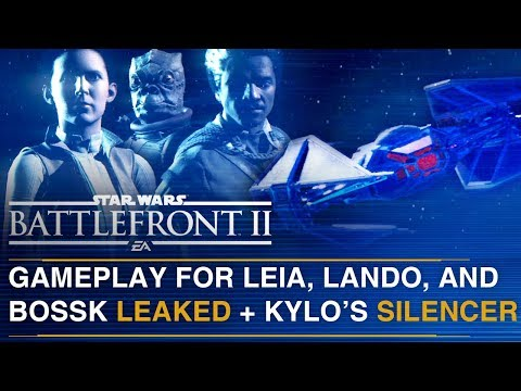 Download Youtube: LEAKED Leia, Lando, Bossk and Kylo Ren TIE Silencer Gameplay | Battlefront Update