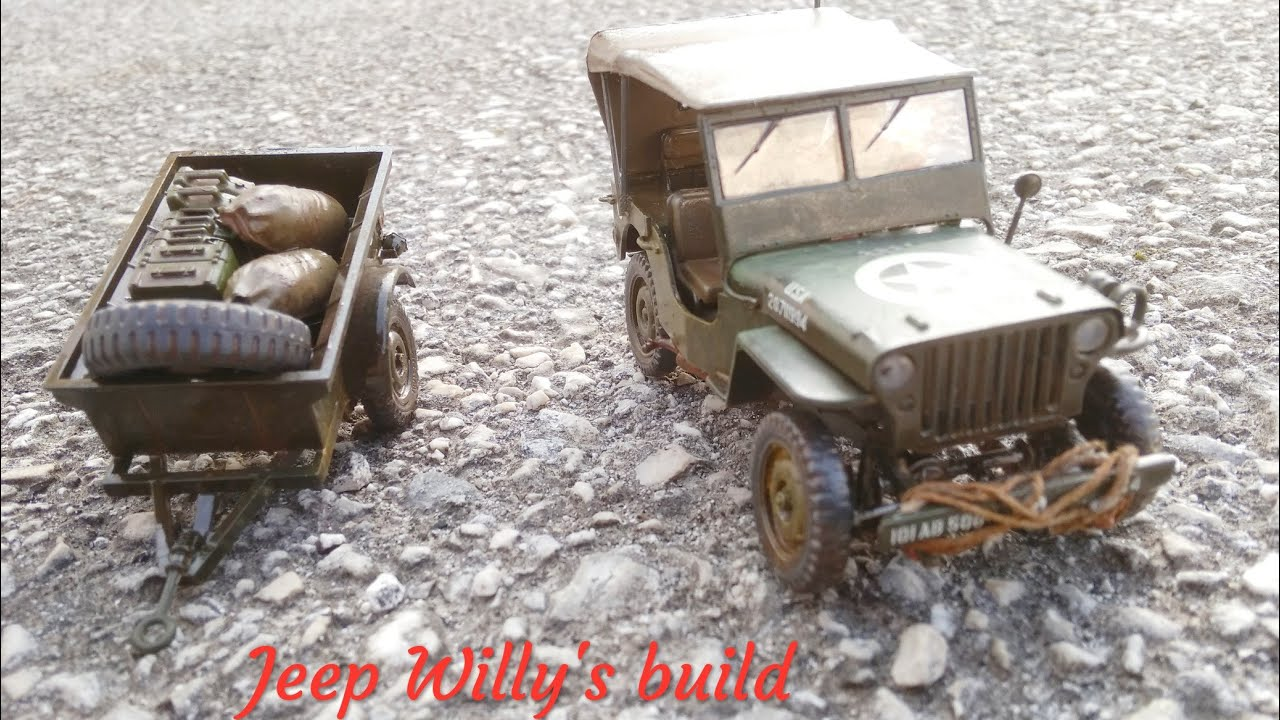 ITALERI 0314 1//35 Willys MB Jeep With Trailer