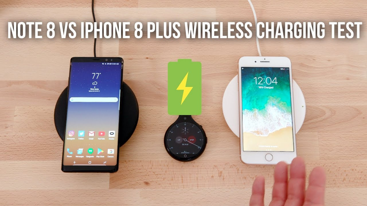 the best attitude 19298 612bb iPhone 8 Plus vs Note 8 Wireless Charging Test!