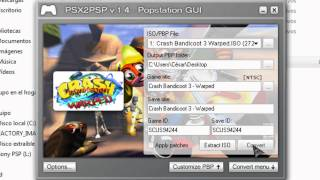 PSP - Convertir iso de psx a eboot.pbp
