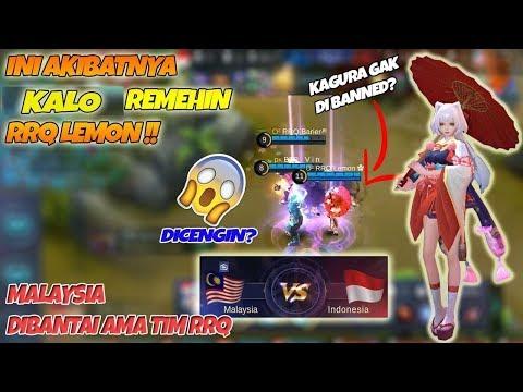 Ini AKIBATNYA !! Remehin RRQ Lemon Gak Banned Kagura Di Arena Kontes INA vs MALAY