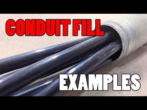 Conduit Fill Examples How Many Conductors Can I Put In Youtube