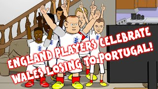 England players filmed celebrating Wales losing to Portugal!!! EXCLUSIVE!