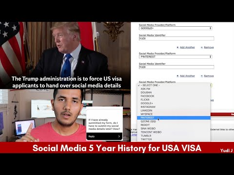 US Visa Applicants Now Required To Submit 5-Year Social Media History! Here's What You Need To Know!